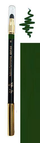 Tužka na oči s houbičkou 02 zelená