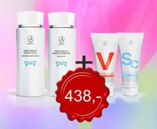 Pure Therapy gel a tonikum +pletovy krém Vitamin nebo Soft care
